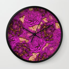 satin and lace flowers Wall Clock