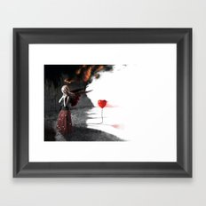 Burning Love Framed Art Print