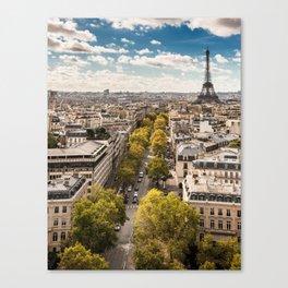 tour eiffel skyline Canvas Print