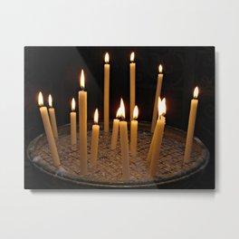 Candles In Basilica Di Santa Maria In Trastevere Metal Print