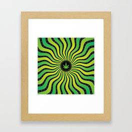 Marijuana energy | Sacred geometry mandala Framed Art Print