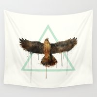 falcon Wall Tapestries featuring Falcon by Amy Hamilton