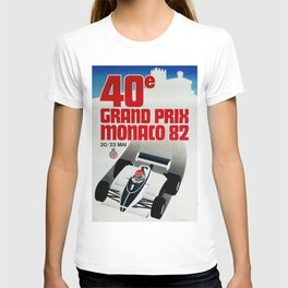 Gran Prix de Monaco, 1982, original vintage poster T-shirt