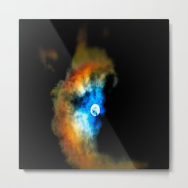 Moon Shadow Metal Print