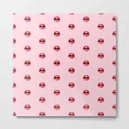 SEXY LIPS ((pastel pink)) Metal Print