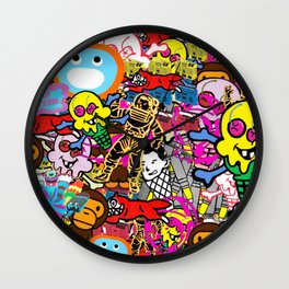 Bape X Ice Cream X Baby Milo X Billionaire Boys Club Collage Wall Clock