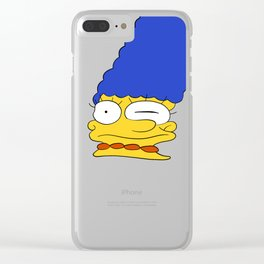 marge Clear iPhone Case