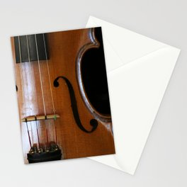 Close-up of Beautiful Violin Black Background #decor #society6 #buyart Stationery Cards