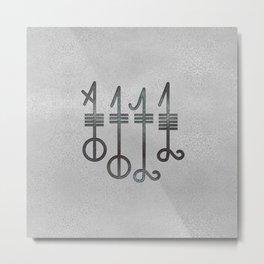 Svefnthorn symbol - metallic texture Metal Print