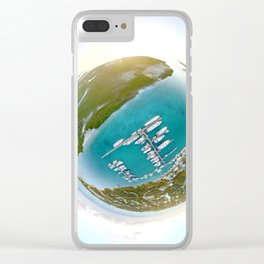 Tiny Planet Turks and Caicos Clear iPhone Case