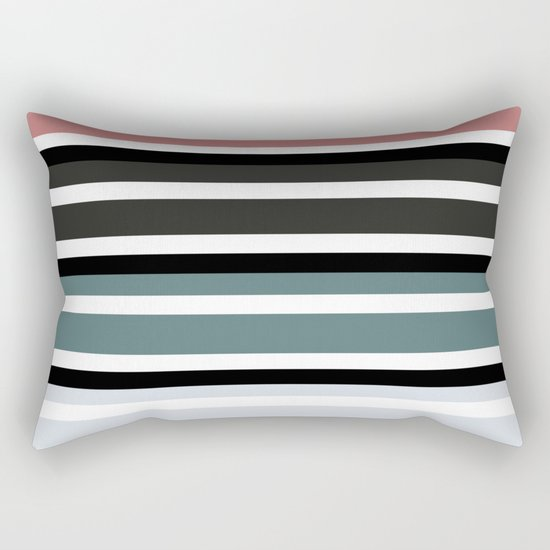 Simple colorful striped pattern . 3 Rectangular Pillow