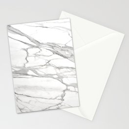 Grey Winter Marble Stationery Cards