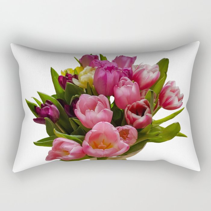 Tulips in a vase Rectangular Pillow