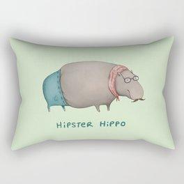 Hipster Hippo Rectangular Pillow