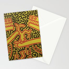 Monsters - keith haring Stationery Cards