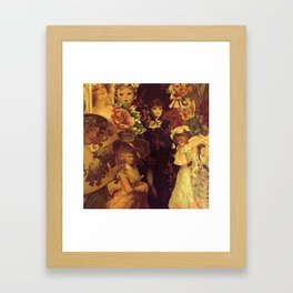 Decoupage Ladies Framed Art Print
