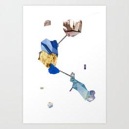 Crystal Plane #1 Art Print