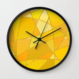 Geometric shapes in yellow and orange colors Wall Clock