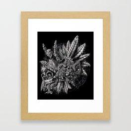 Aztec Great Lizard Warrior 1 (Triceratops) Framed Art Print