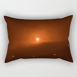 Solar Eclipse over Somerset, 2015 Rectangular Pillow