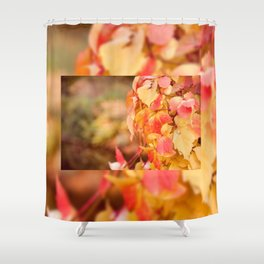 vine red yellow leaves abstract Shower Curtain
