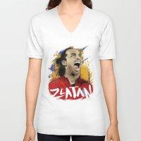 zlatan V-neck T-shirts featuring Zlatan by Superfan