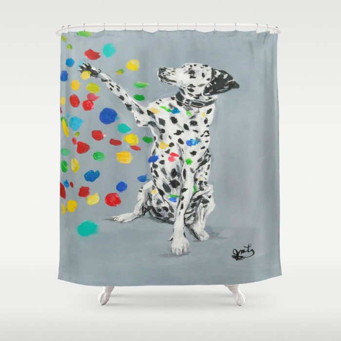 Dalmatian Shower Curtain By Thisarttobeyours