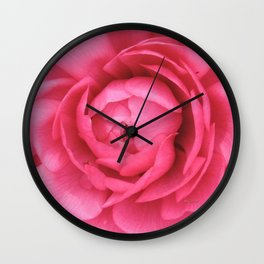 Petals in the Pink Wall Clock