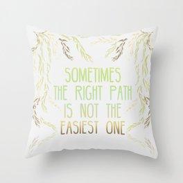 Grandmother Willow's Words Throw Pillow