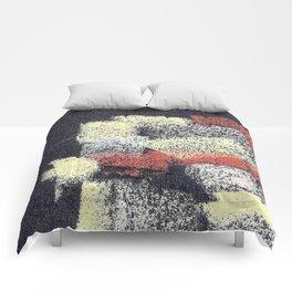 Multicolor abstract black Comforters