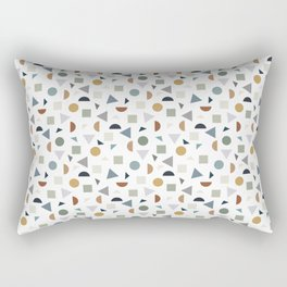 green geometric terrazzo Rectangular Pillow