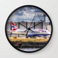 british Wall Clocks featuring British Airways  by David Pyatt