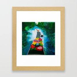 Flower Delivery Framed Art Print