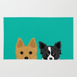 Pippen & Sooty - Teal Rug