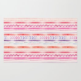 Multi-Colored Tribal Pattern One Rug
