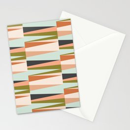 Scandinavian Geometry Pattern green #Homedecor Stationery Cards