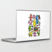 keith haring Laptop & iPad Skins featuring Haring - Simpsons by Krikoui