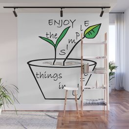 The Simple Things Wall Mural