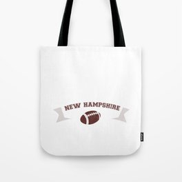 Just a Baller from New Hampshire Football Player Tote Bag