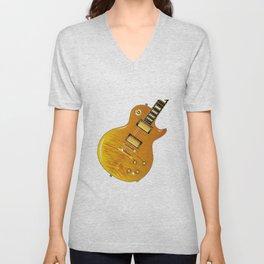 Maple Top Guitar Unisex V-Neck