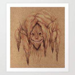 Wise Old Tree Lady Art Print