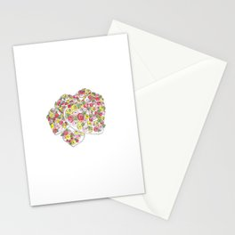 Iced Flower Hearts Stationery Cards