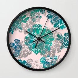 Flower Pattern Design #4 Wall Clock