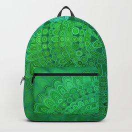 Green Mandala Circle Backpack
