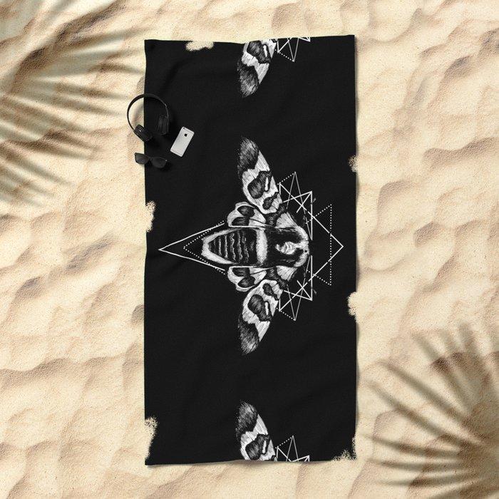 Geometric Moth 2 Beach Towel