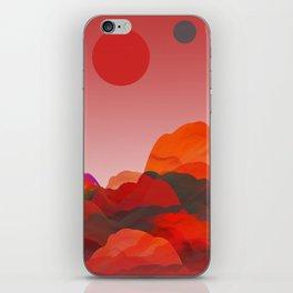 """Coral Pink Sci-Fi Mountains"" iPhone Skin"