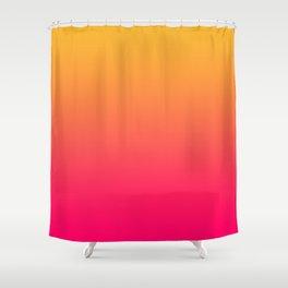 Hot Pink / Golden Heart Gradient Colors Shower Curtain