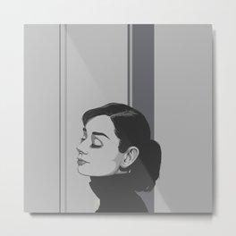 Hepburn Metal Print