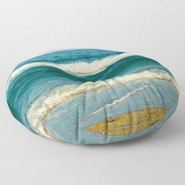 sea waves Floor Pillow