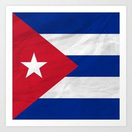 Cuba - North America Flags Art Print